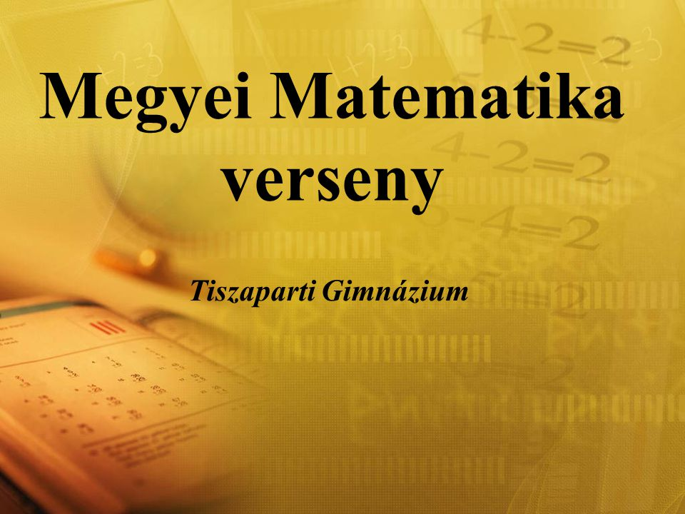 Megyei Matematika verseny