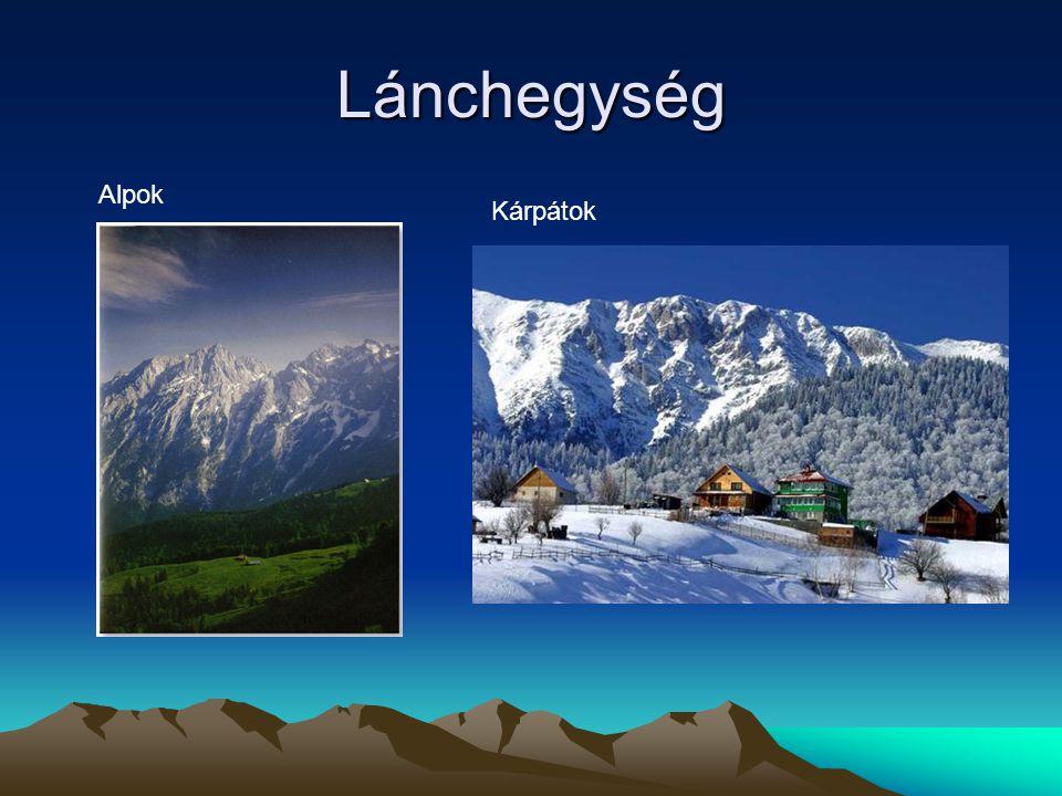 Lánchegység Alpok Kárpátok