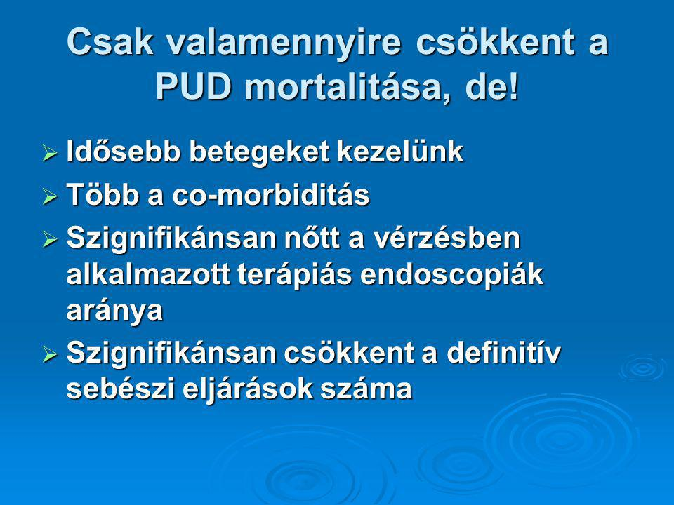 Csak valamennyire csökkent a PUD mortalitása, de!