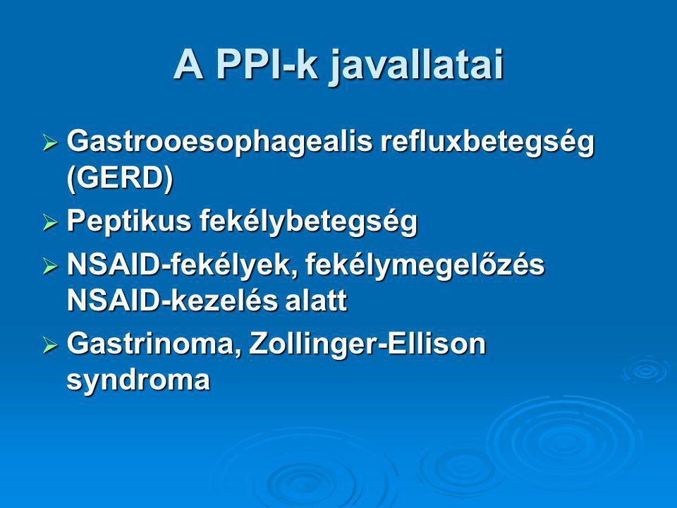 A PPI-k javallatai Gastrooesophagealis refluxbetegség (GERD)