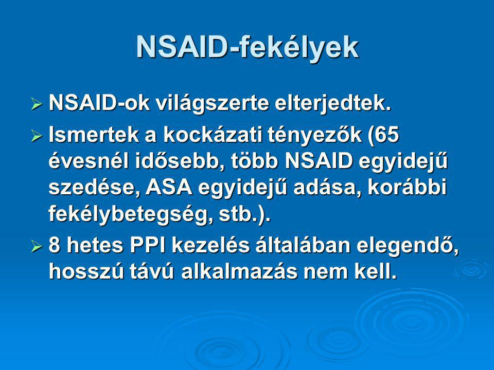 NSAID-fekélyek NSAID-ok világszerte elterjedtek.