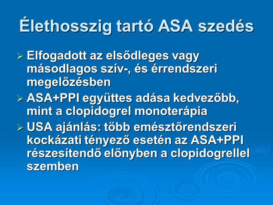 Élethosszig tartó ASA szedés