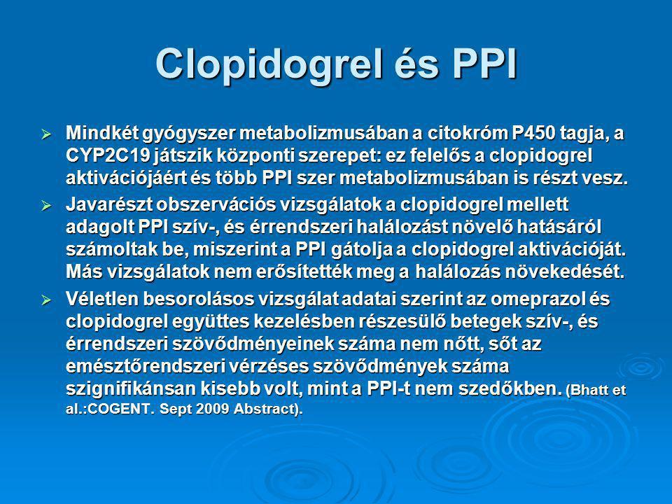 Clopidogrel és PPI