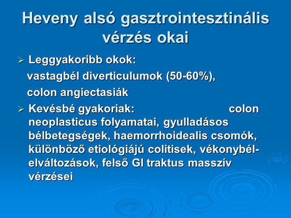 Heveny alsó gasztrointesztinális vérzés okai