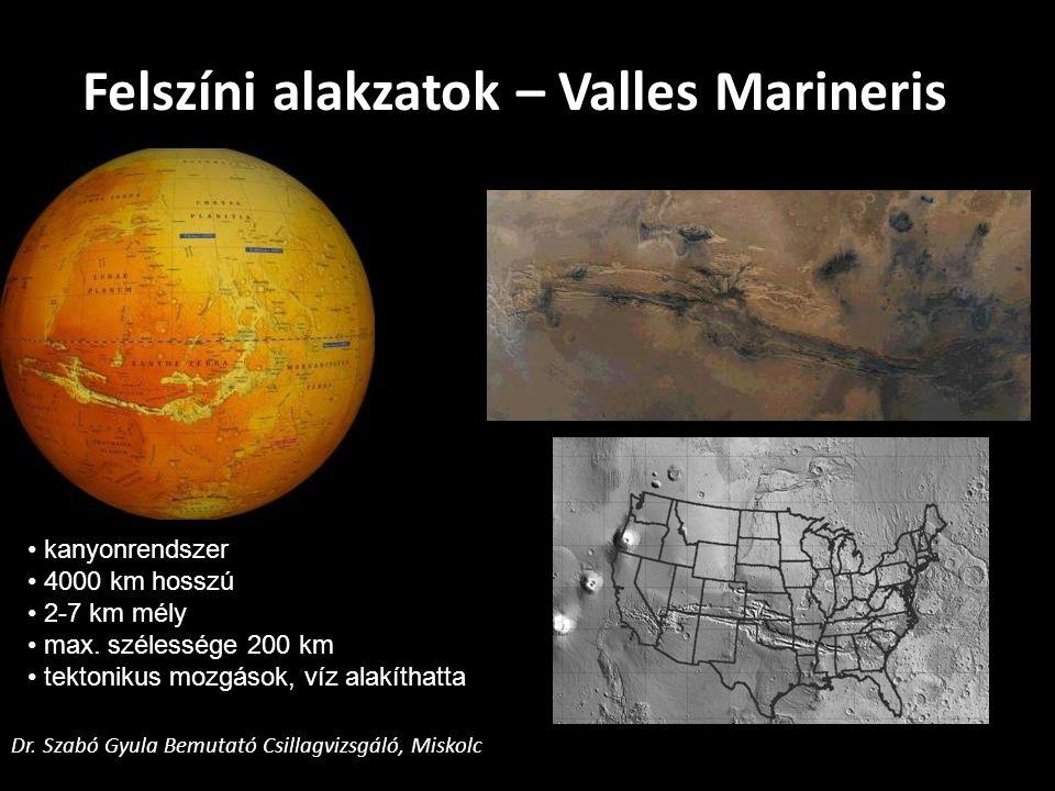 Felszíni alakzatok – Valles Marineris