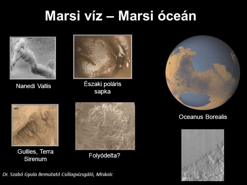 Marsi víz – Marsi óceán Északi poláris Nanedi Vallis sapka