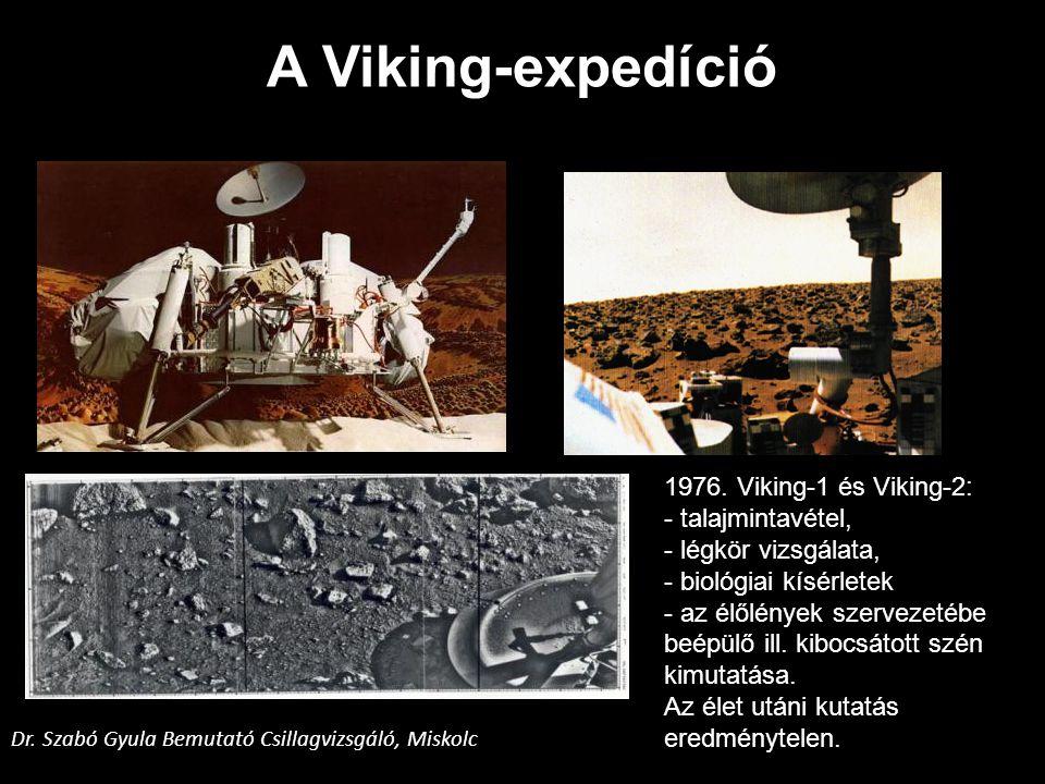 A Viking-expedíció 1976. Viking-1 és Viking-2: - talajmintavétel,