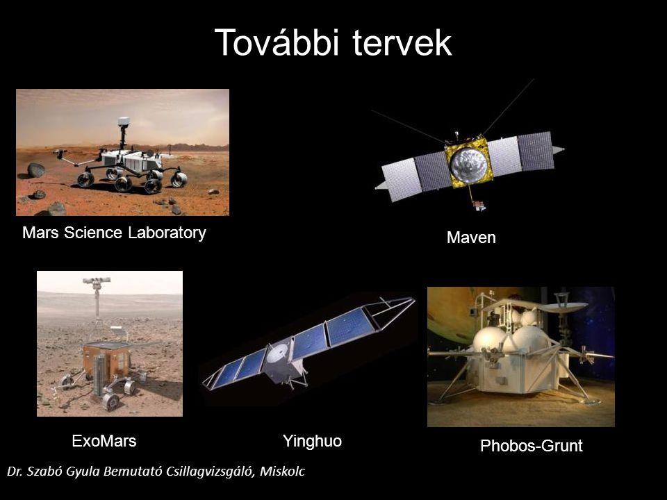További tervek Mars Science Laboratory Maven ExoMars Yinghuo