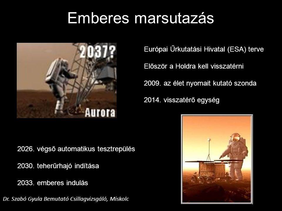 Emberes marsutazás Európai Űrkutatási Hivatal (ESA) terve