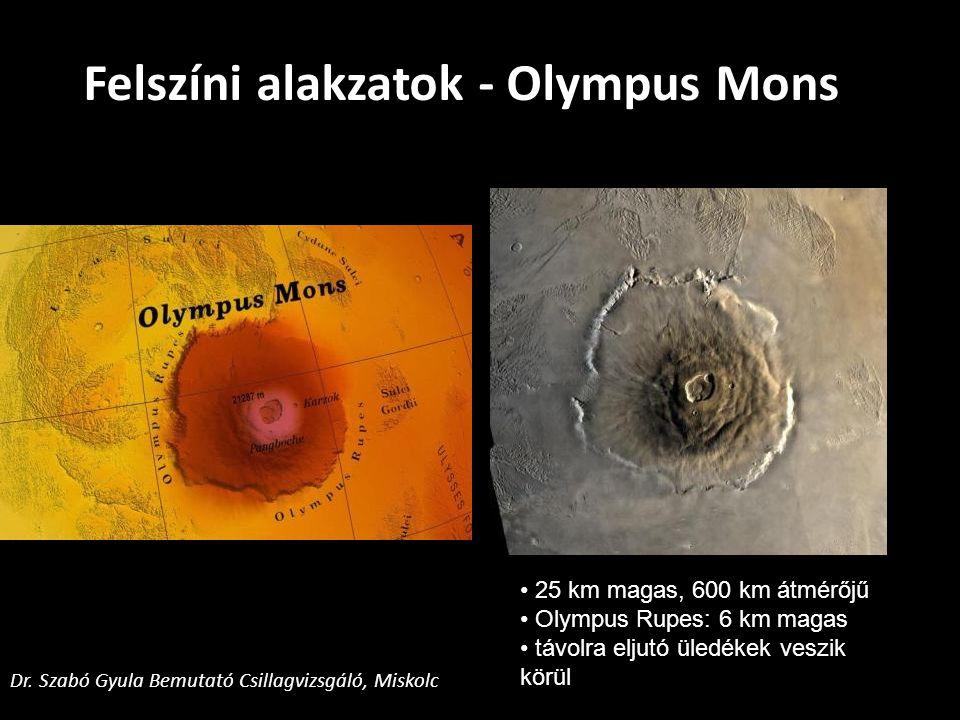 Felszíni alakzatok - Olympus Mons