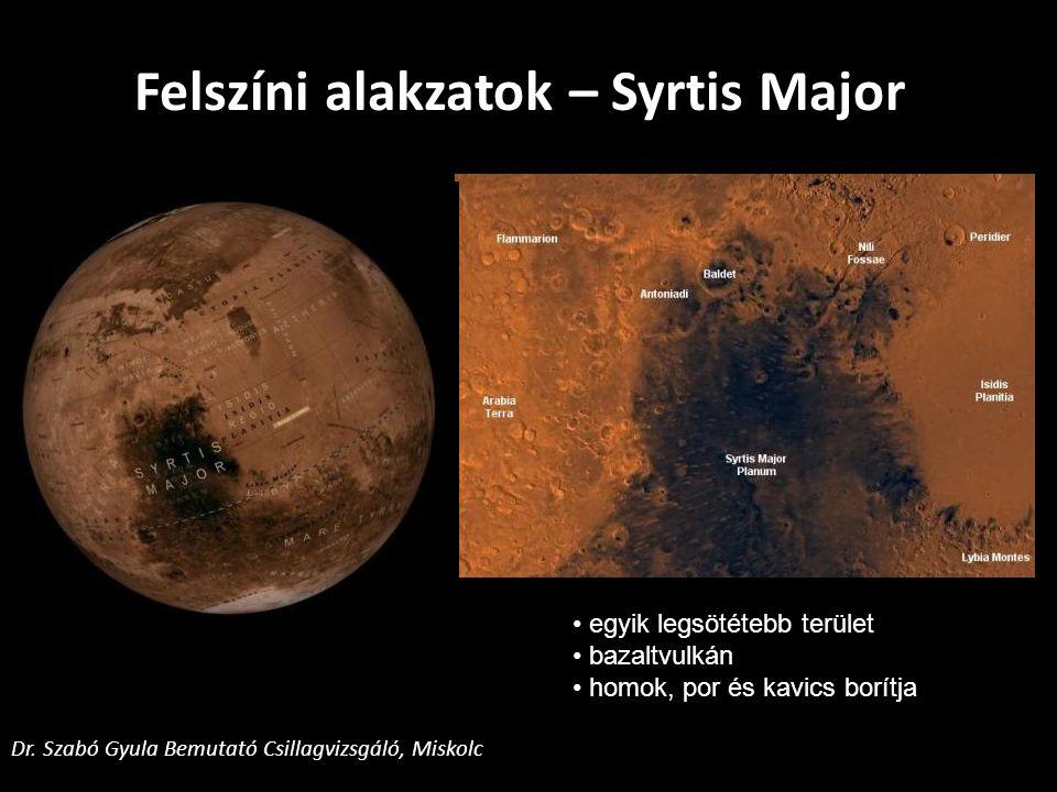 Felszíni alakzatok – Syrtis Major