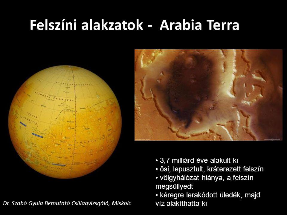 Felszíni alakzatok - Arabia Terra