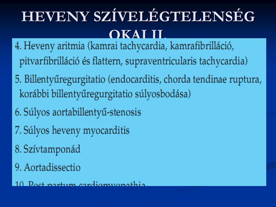 HEVENY SZÍVELÉGTELENSÉG OKAI II.