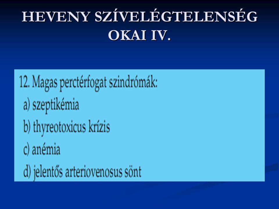 HEVENY SZÍVELÉGTELENSÉG OKAI IV.