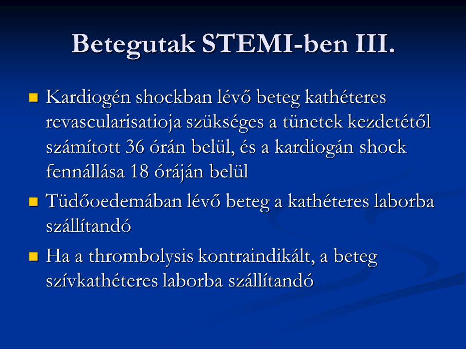Betegutak STEMI-ben III.