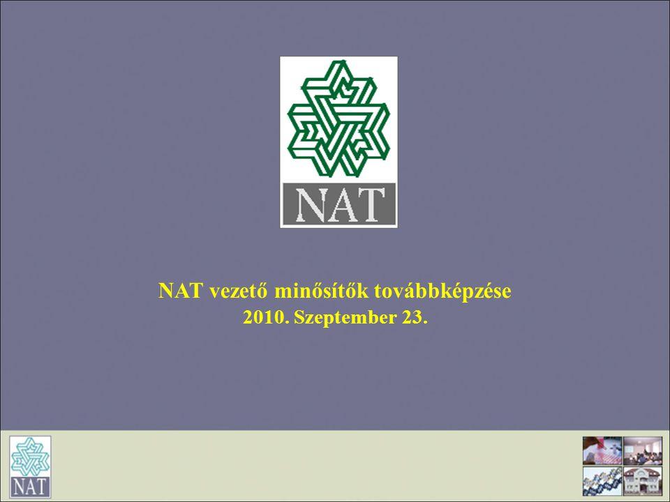 NAT vezető minősítők továbbképzése
