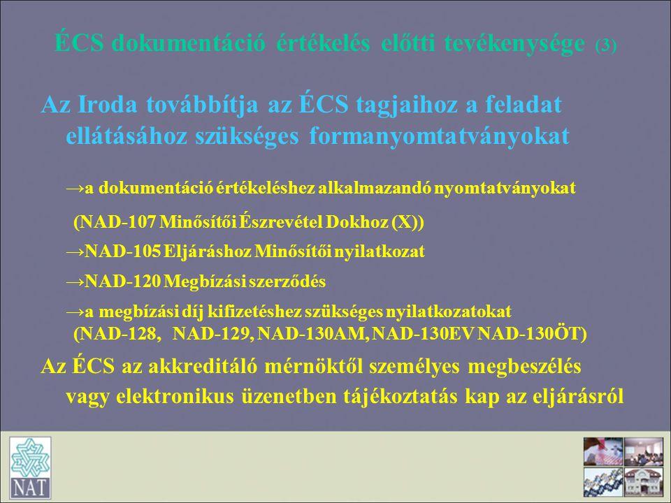 ÉCS dokumentáció értékelés előtti tevékenysége (3)