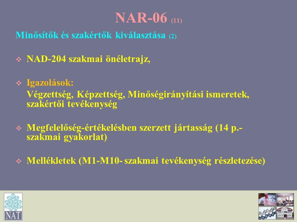 NAR-06 (11) Minősítők és szakértők kiválasztása (2)