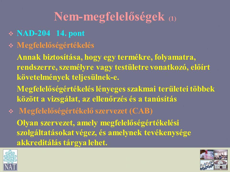 Nem-megfelelőségek (1)