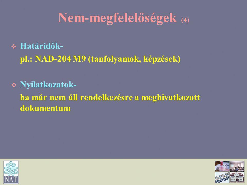 Nem-megfelelőségek (4)