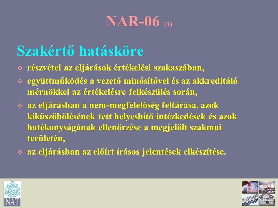 NAR-06 (4) Szakértő hatásköre