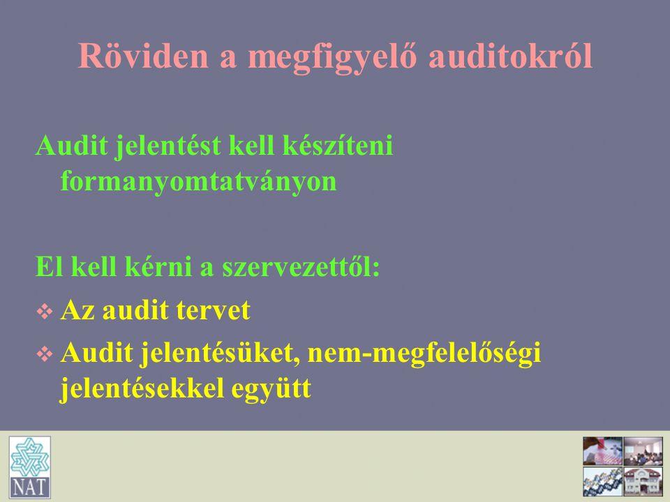 Röviden a megfigyelő auditokról
