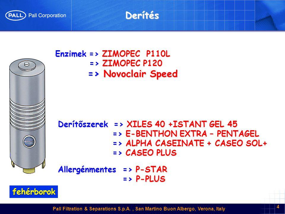 Derítés => Novoclair Speed Enzimek => ZIMOPEC P110L