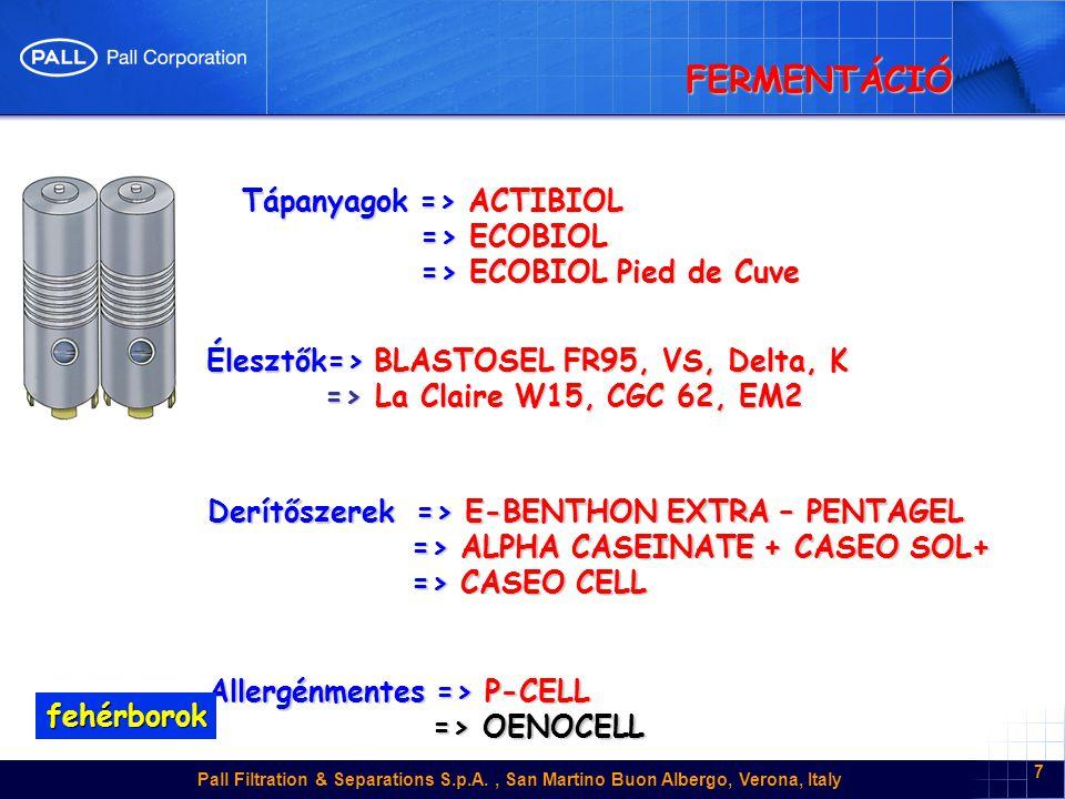 FERMENTÁCIÓ Tápanyagok => ACTIBIOL => ECOBIOL