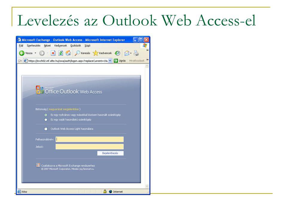 Levelezés az Outlook Web Access-el