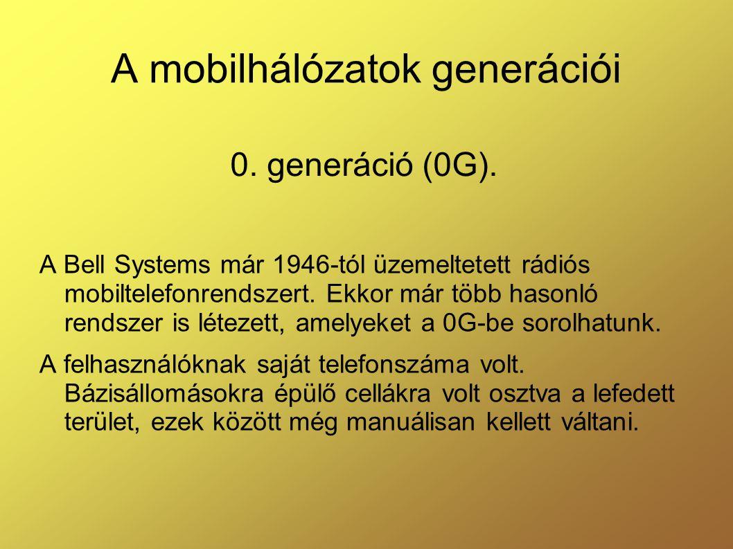 A mobilhálózatok generációi