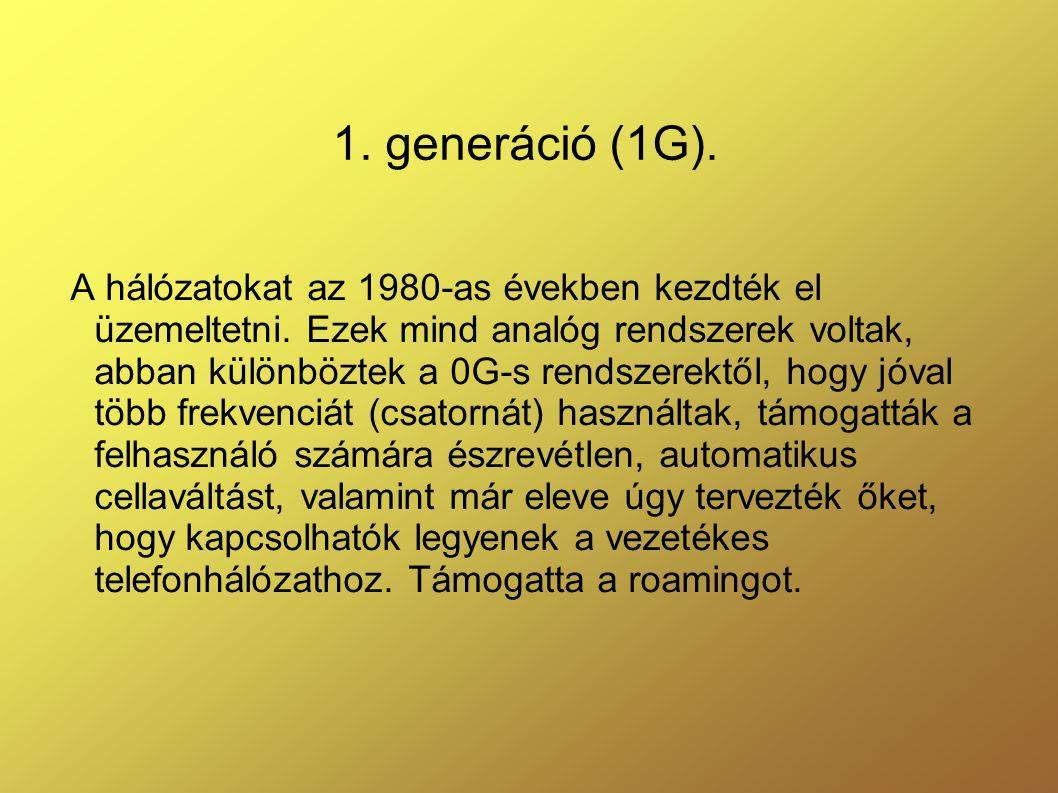 1. generáció (1G).
