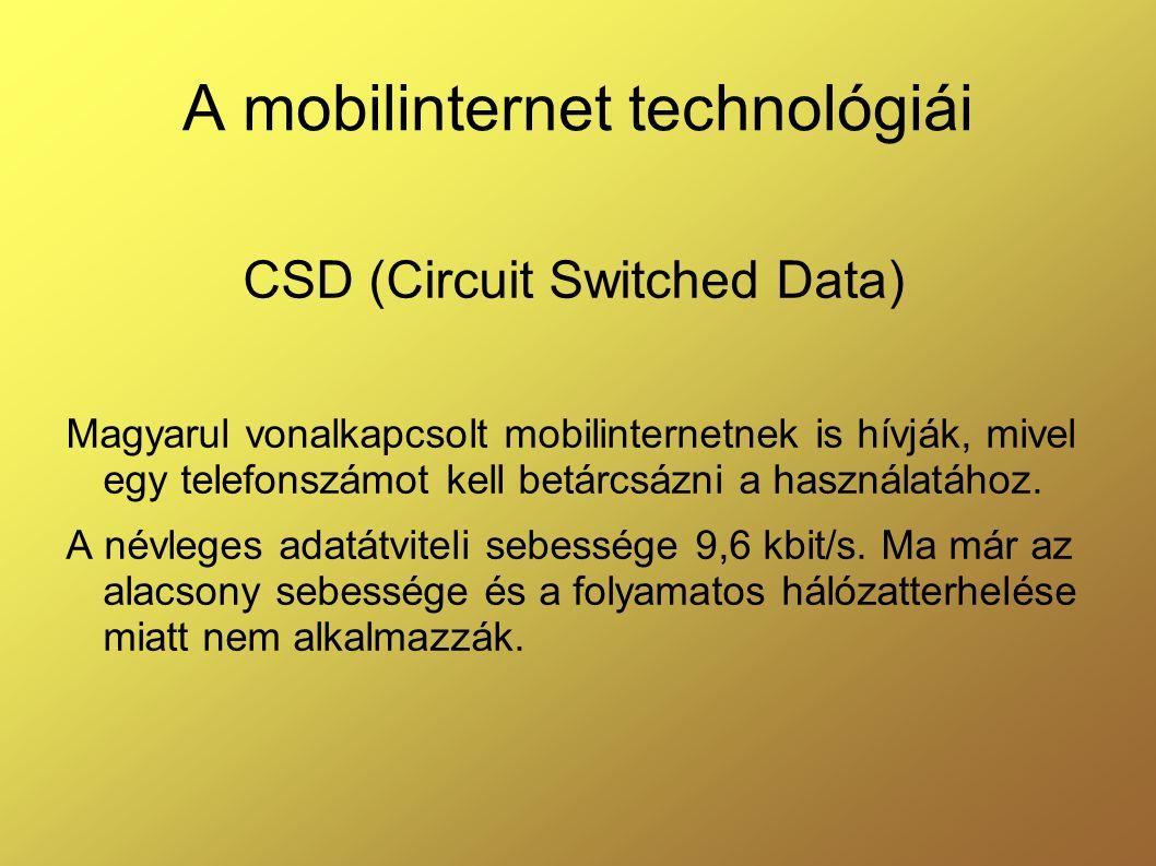 A mobilinternet technológiái