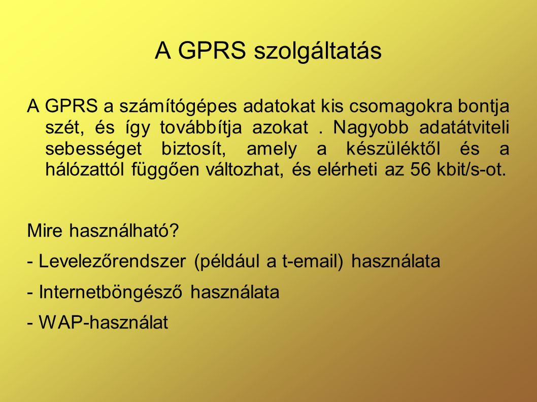 A GPRS szolgáltatás