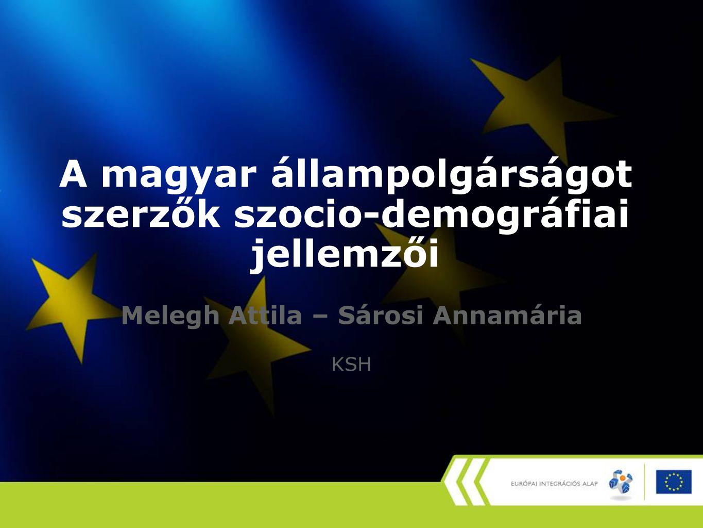 A magyar állampolgárságot szerzők szocio-demográfiai jellemzői