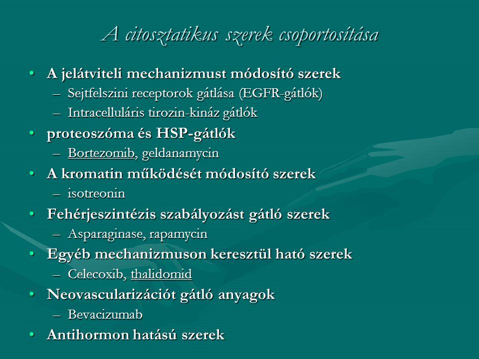 A citosztatikus szerek csoportosítása