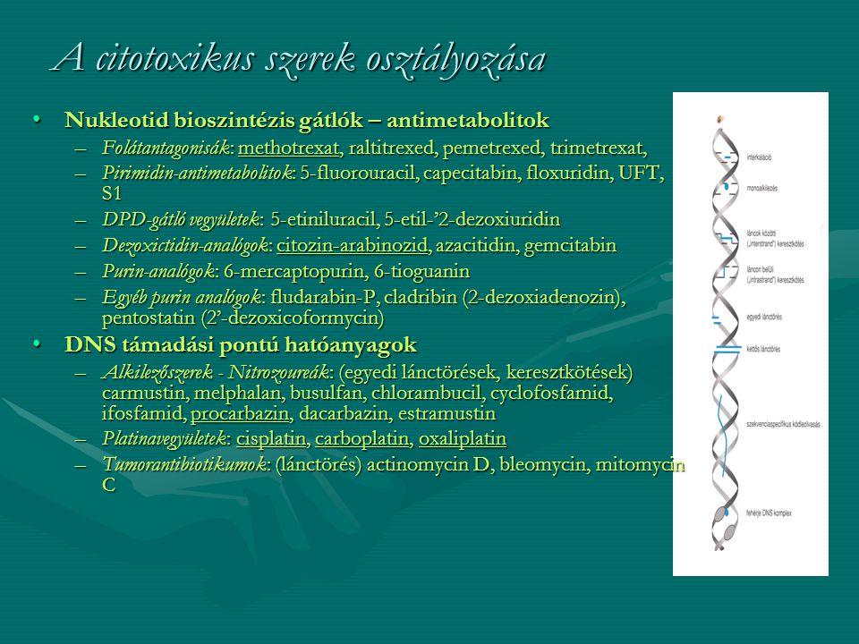 A citotoxikus szerek osztályozása