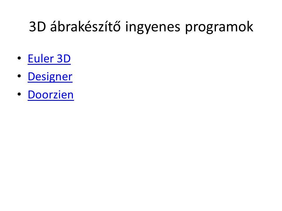 3D ábrakészítő ingyenes programok