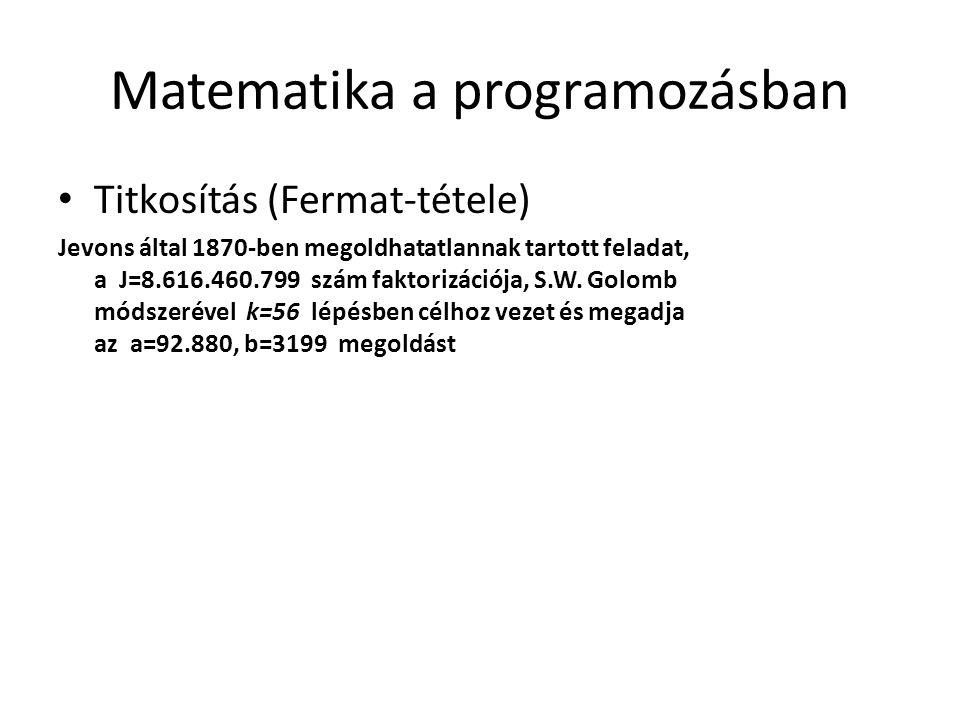 Matematika a programozásban