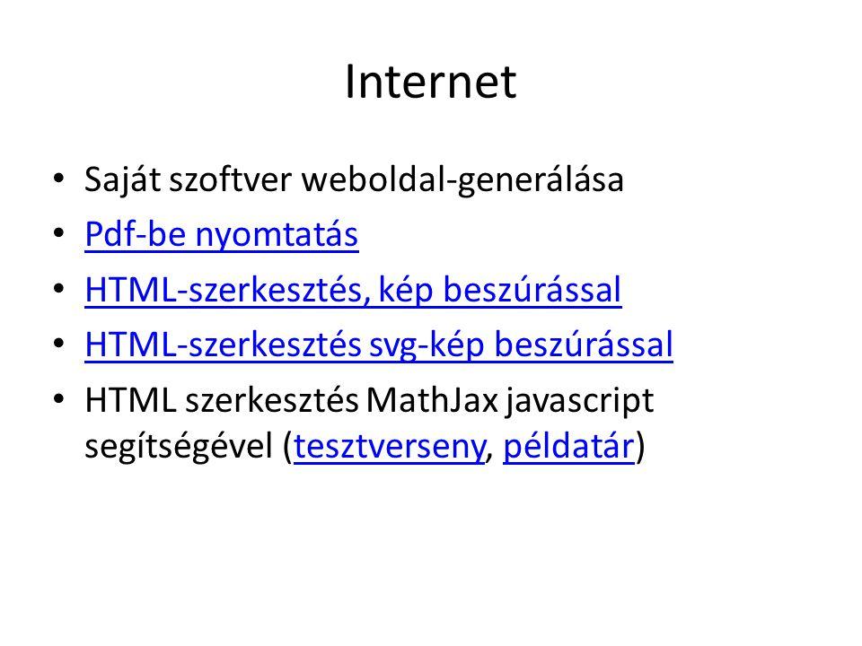 Internet Saját szoftver weboldal-generálása Pdf-be nyomtatás