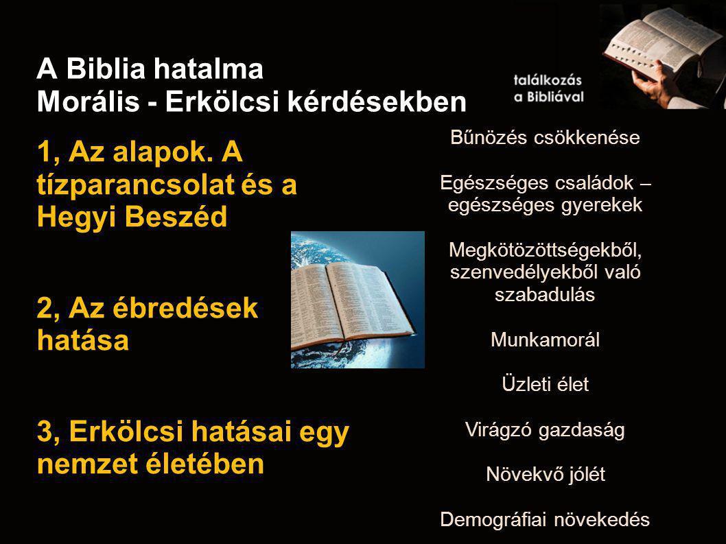 A Biblia hatalma Morális - Erkölcsi kérdésekben