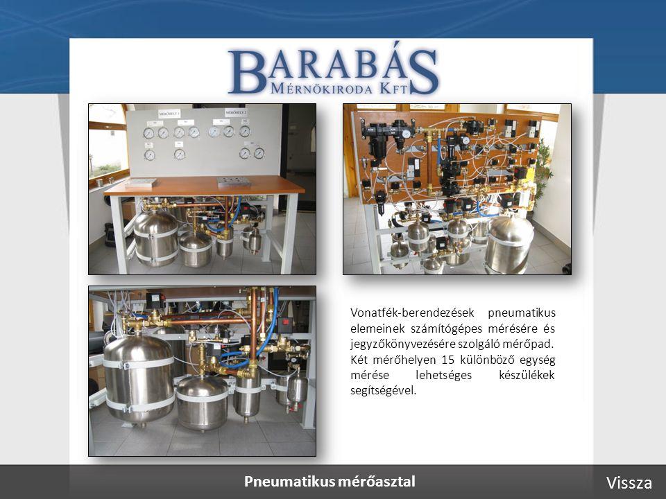 Pneumatikus mérőasztal