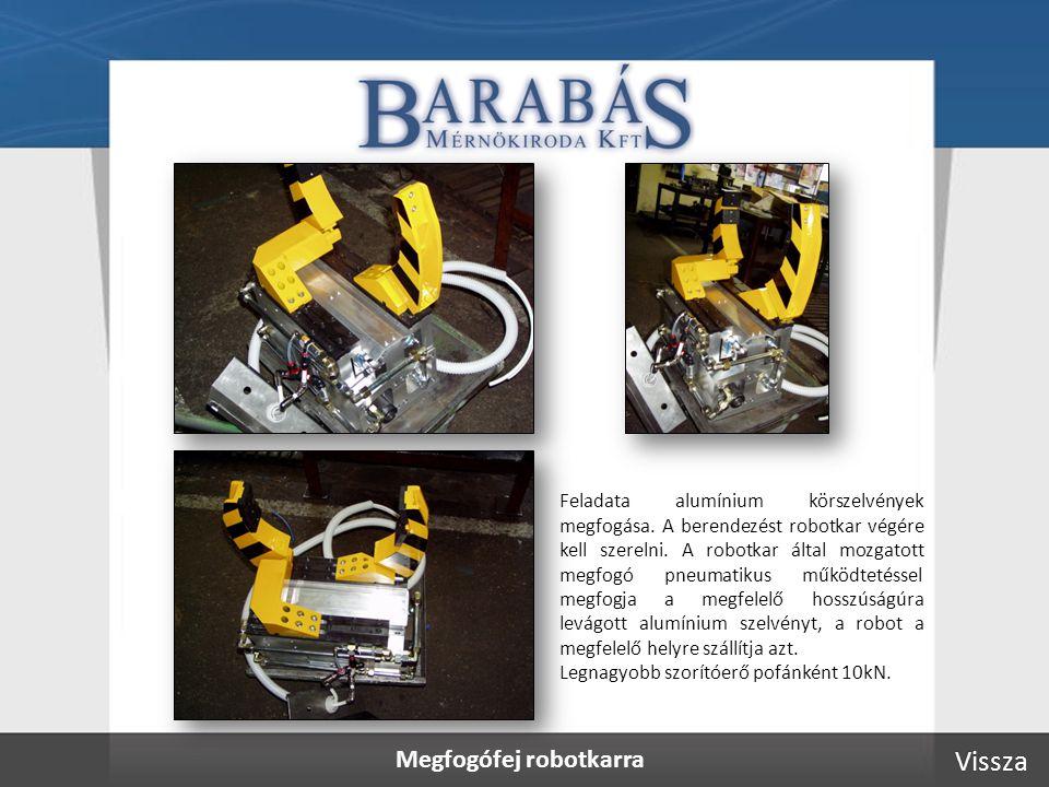 Megfogófej robotkarra