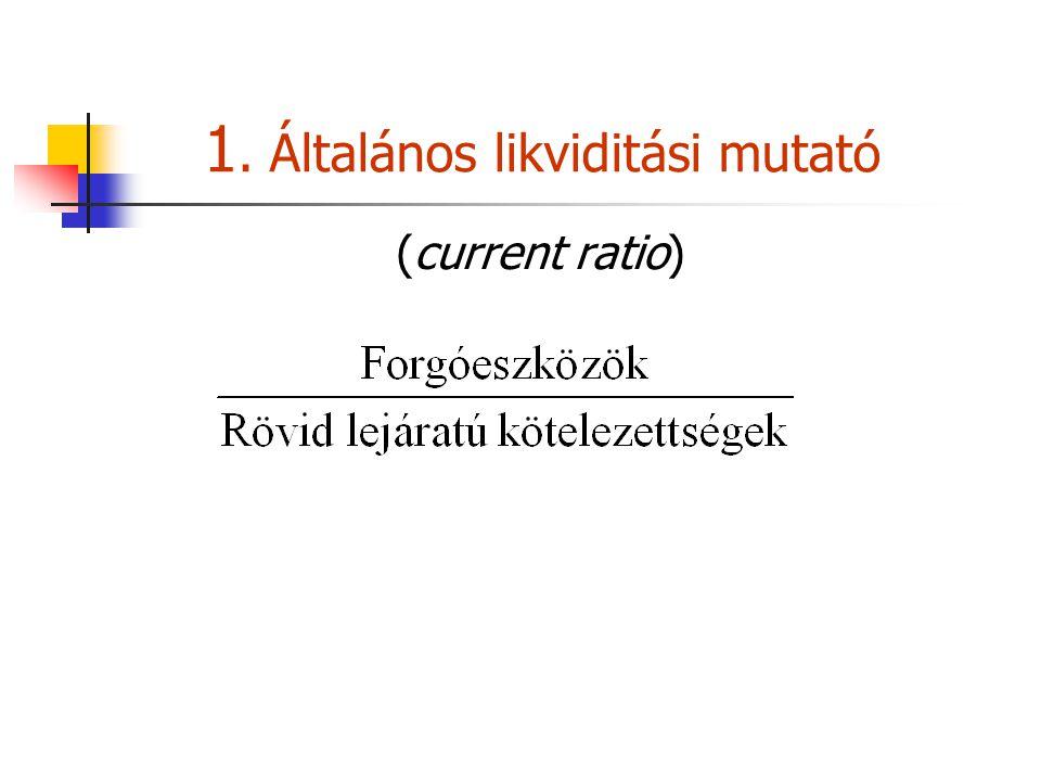 1. Általános likviditási mutató