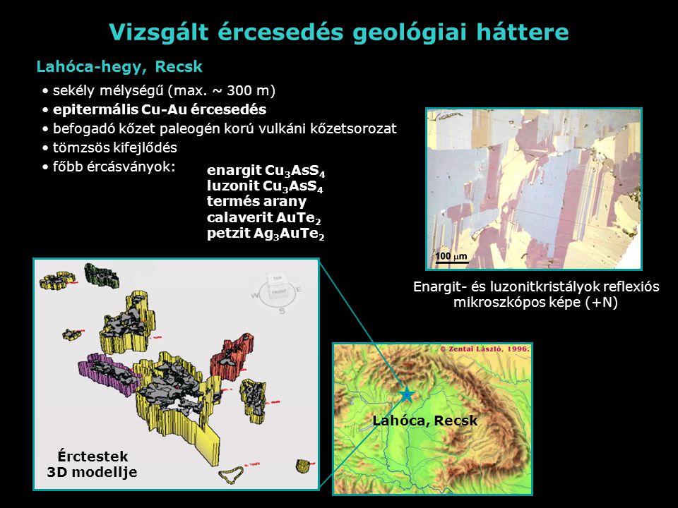 Vizsgált ércesedés geológiai háttere