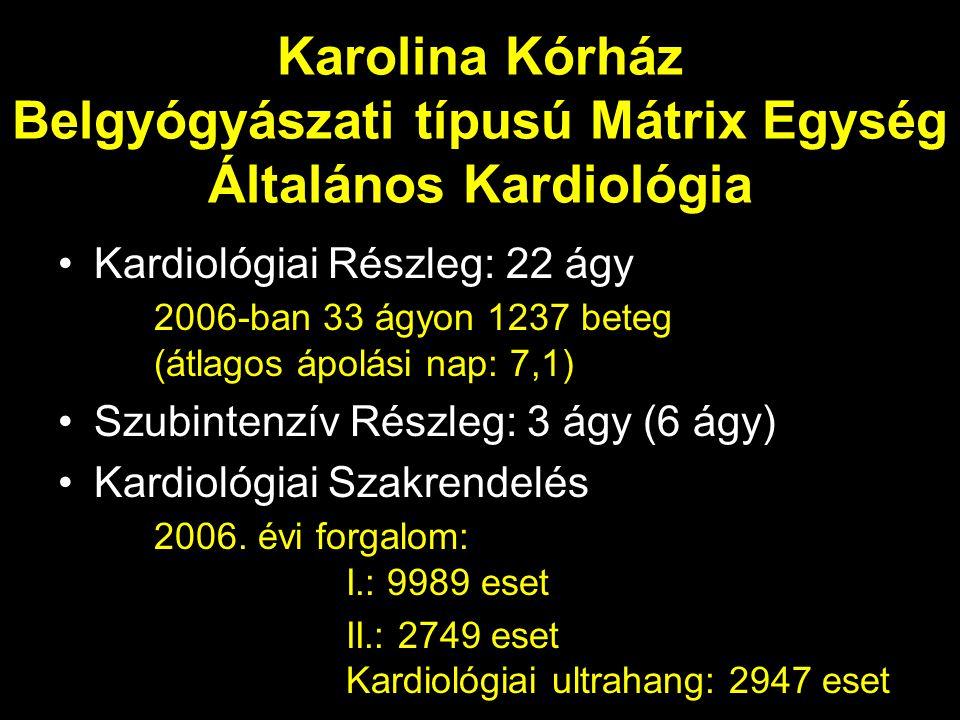 Karolina Kórház Belgyógyászati típusú Mátrix Egység Általános Kardiológia