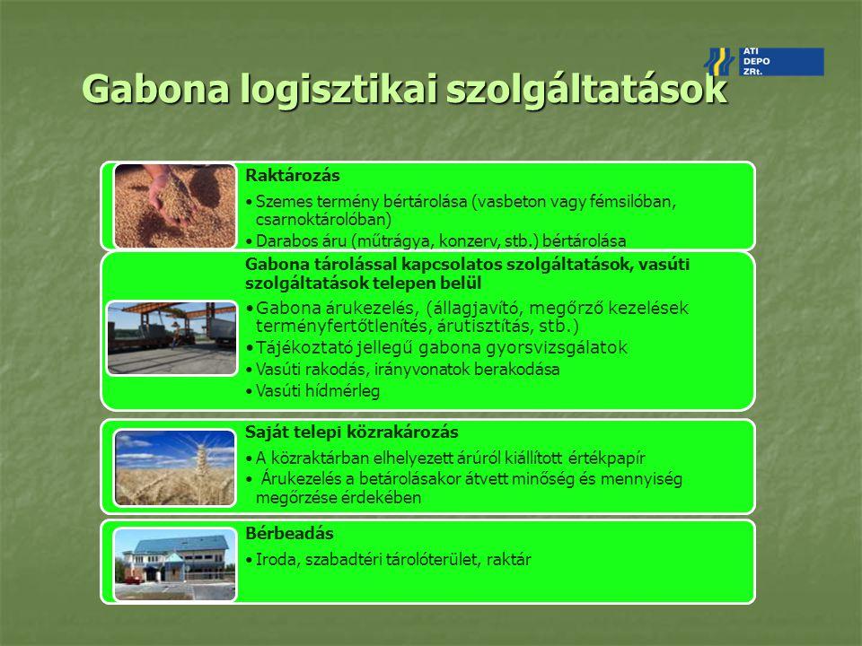 Gabona logisztikai szolgáltatások