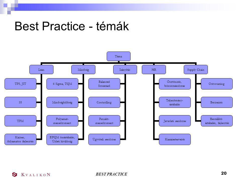 Best Practice - témák