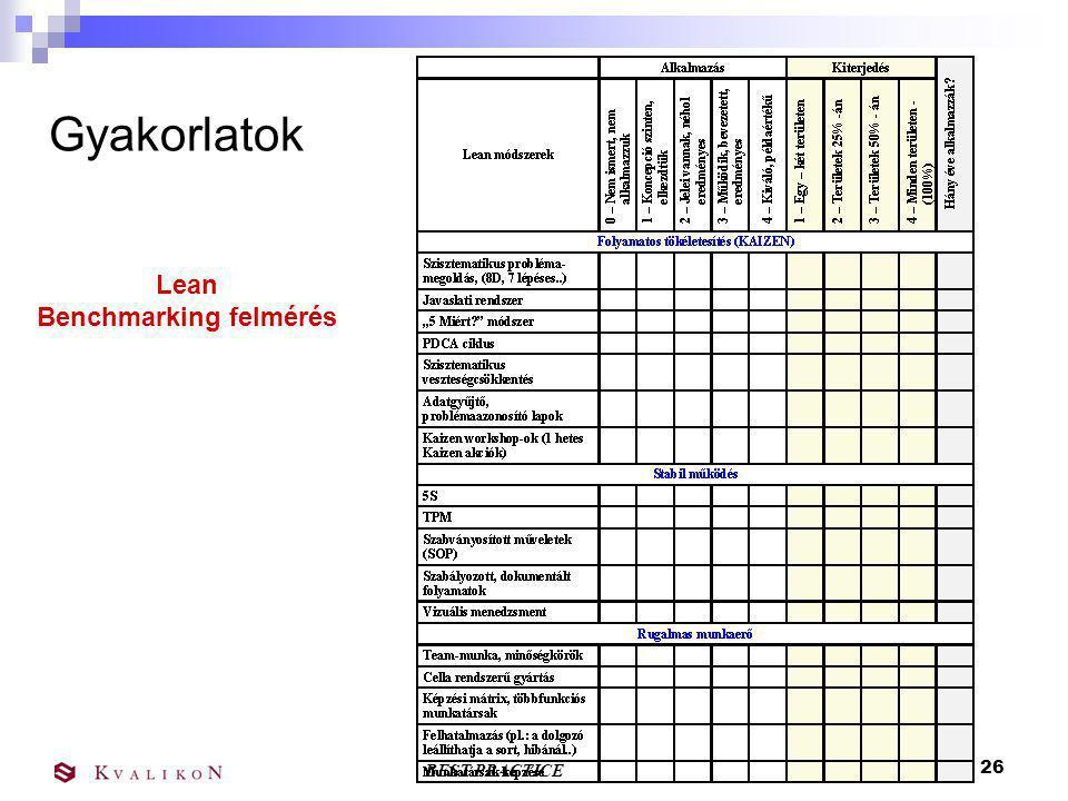 Benchmarking felmérés