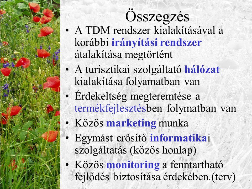 Összegzés A TDM rendszer kialakításával a korábbi irányítási rendszer átalakítása megtörtént.