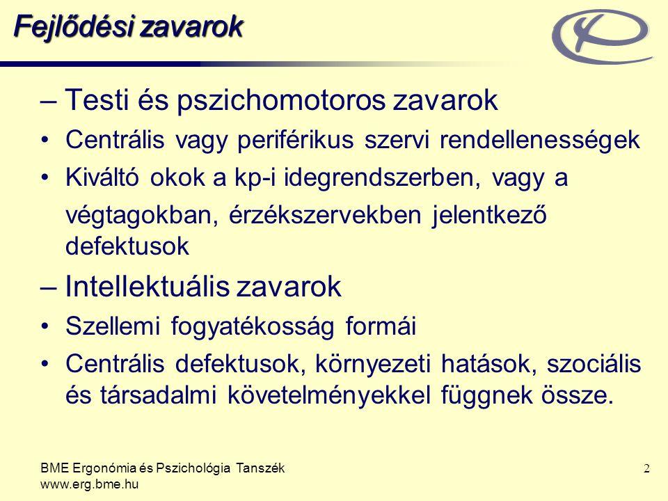 – Testi és pszichomotoros zavarok